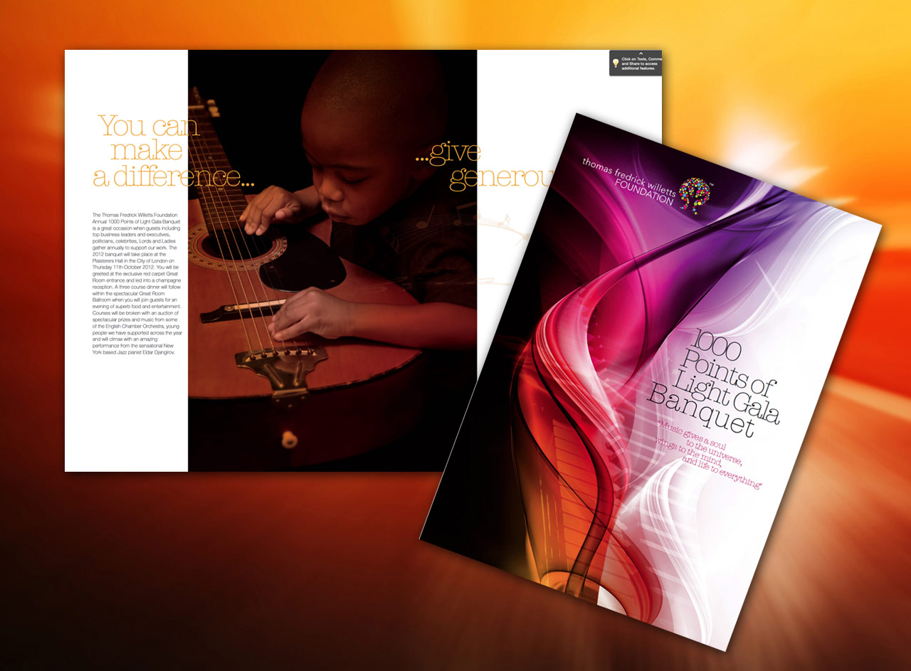 Thomas Frederick Willetts Foundation brochure design by BEDA