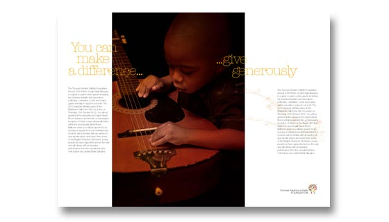Brochure design for childrens' music charity
