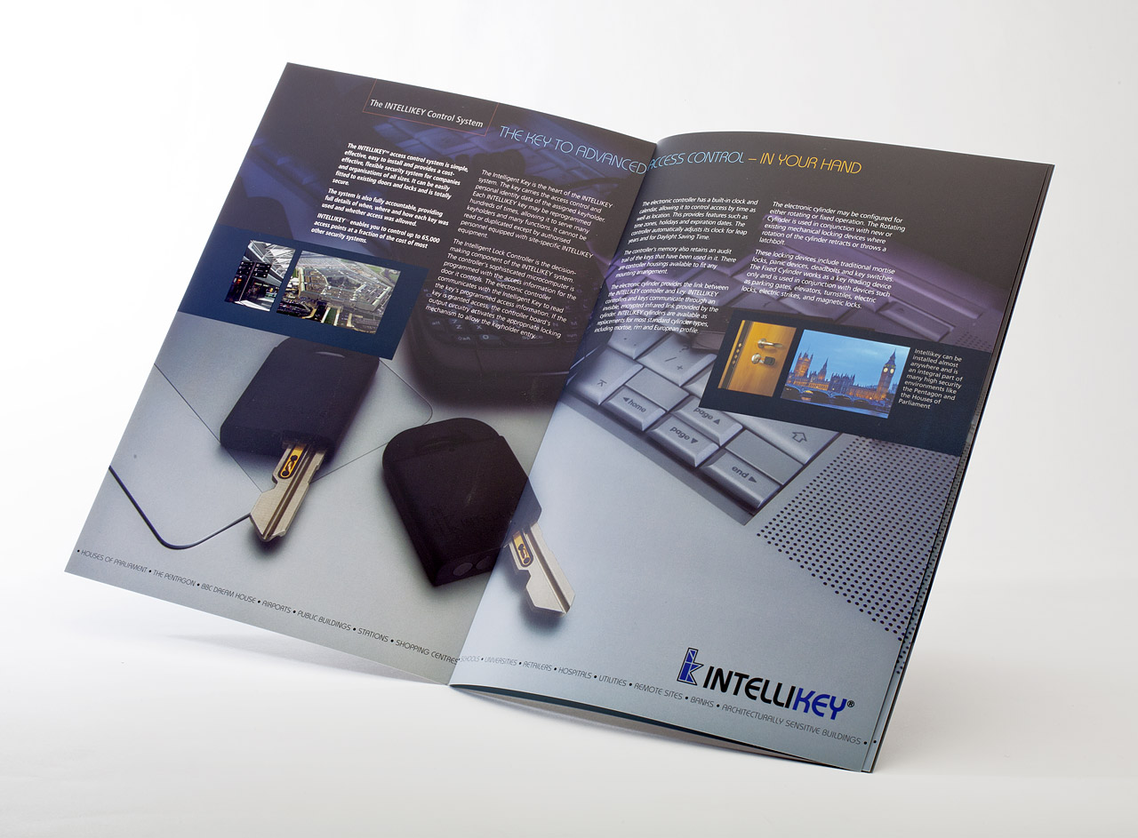High quality glossy brochure for electronic security company