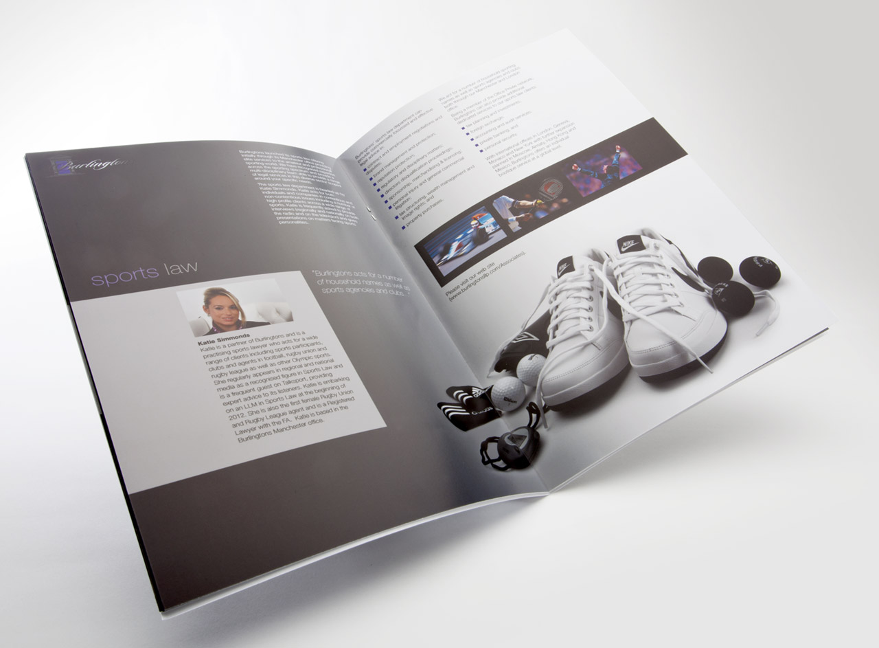 Glossy brochure design for London law firm