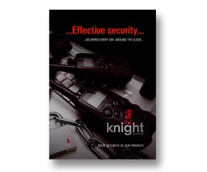 High quality design & print for security firm