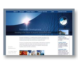 International property company website, designed by BEDA