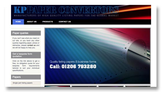 Website development for printing company