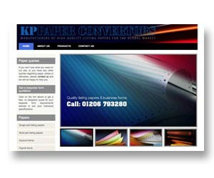 Printing company website, designed and hosted by BEDA
