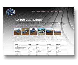 Farm machinery sales website design, built, hosted and maintained by BEDA
