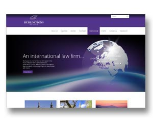 London law firm website, designed and maintained by BEDA