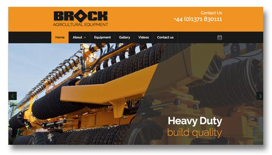 Website development and maintenance for agricultural equipment manufacturers