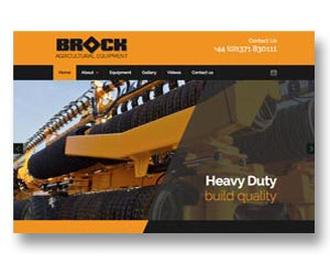 Agricultural equipment manufacturer's website, designed, built and hosted by BEDA