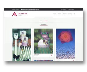 Online art gallery site, hosted and maintained by BEDA