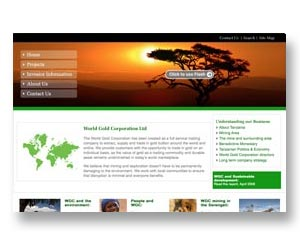Gold and mineral exploration company website