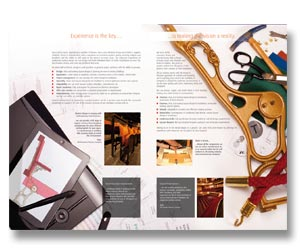 brochure design and printing for theatre & cinema seating company