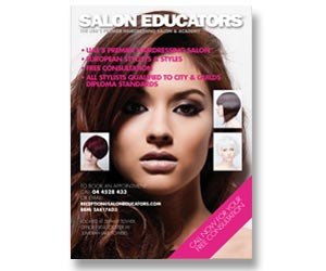 leaflet for international hairdressing company